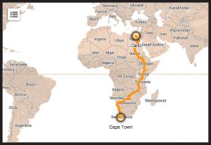 Tour d' AfriqueBorder